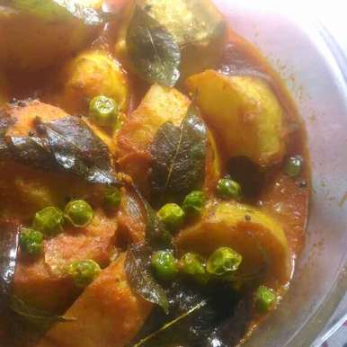 Dam aloo in South Indian style., How to make Dam aloo in South Indian style.