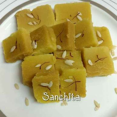 Photo of Besan paak by Sanchita Agrawal Mittal at BetterButter