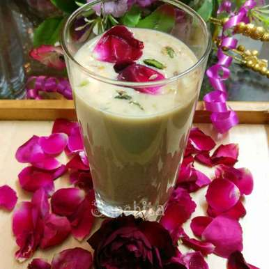 Photo of Rose Almond Thandai by Sanchita Agrawal Mittal at BetterButter