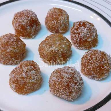 Photo of Coconut Gooseberries Apple laddoos by Sanchita Agrawal Mittal at BetterButter