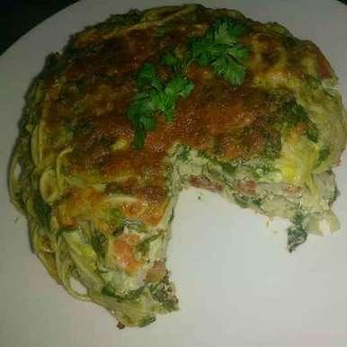 Photo of Palak spaghetti cake by Sangeeta Bhargava . at BetterButter