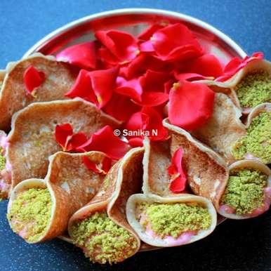 Photo of Rose Flavoured Atayef Bil Ashta - An Arabic Dessert by Sanika SN at BetterButter