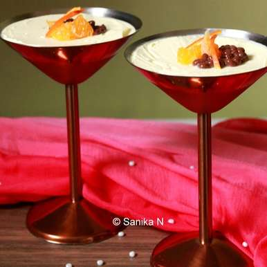 Photo of Orange Posset with Chocolate Caviar by Sanika SN at BetterButter