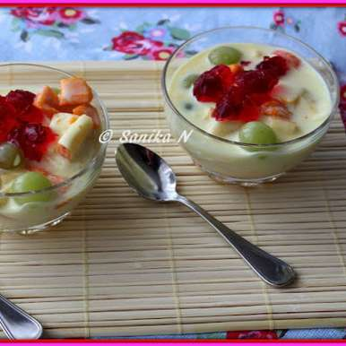 Photo of Fruit Custard With Jelly by Sanika SN at BetterButter
