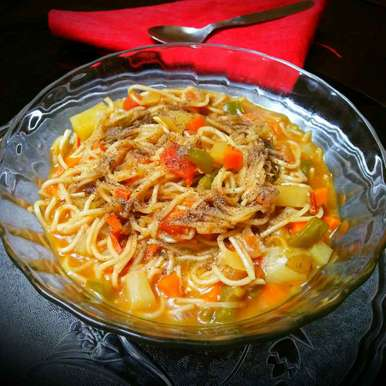 Photo of Chinese Vagetable noodles soup by Sanjhbati sen at BetterButter