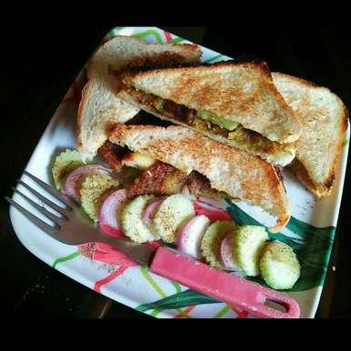 Photo of Veggi Tikka Sandwich by Sanjhbati sen at BetterButter