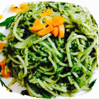 Photo of Noodles in Spinach Pesto by Santosh Bangar at BetterButter
