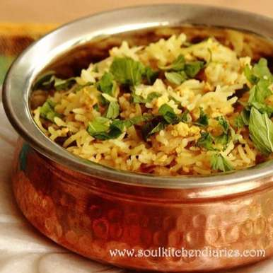 Photo of Pudina Paneer Pulao(Mint and home made chenna Pulao) by sapna dhyani devrani at BetterButter