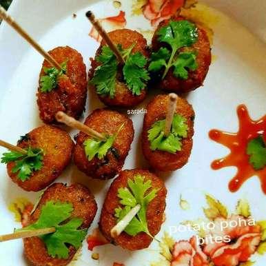 Potato poha bites recipe in Hindi,पोटेटो पोहा बाइट्स, Sarada Shreya