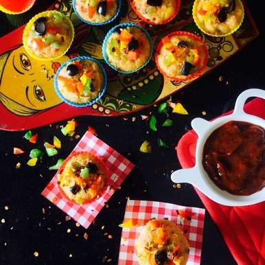 Photo of Pizza flavoured Idli Muffins by Saswati Hota at BetterButter