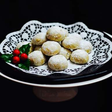 Photo of Mexican Wedding Cookies /Polvorones/Snowball Cookies by Saswati Hota at BetterButter