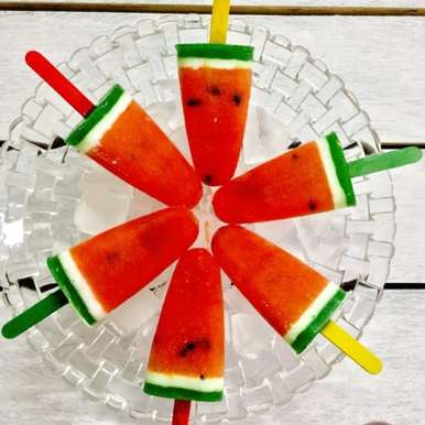 Photo of Watermelon Coconut Kiwi Popsicles by Saswati Hota at BetterButter