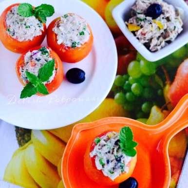 Photo of Tuna salad stuffed Tomatoes by Saswati Hota at BetterButter