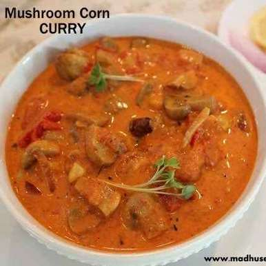 Photo of Mushroom and sweet corn curry by Sathiya Vengatesan at BetterButter