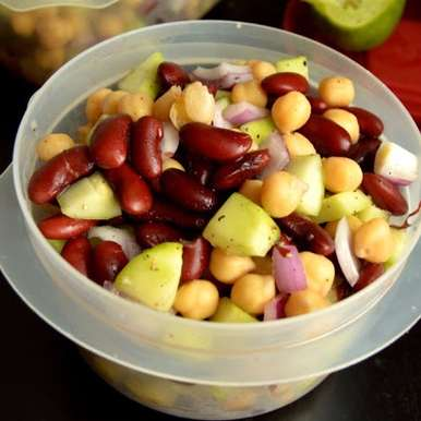 Photo of Cucumber Kidney Bean Chickpea Salad by Sathya Priya Karthik at BetterButter