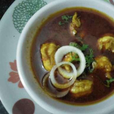 Kolambiche kalwan / prawans curry, How to make Kolambiche kalwan / prawans curry