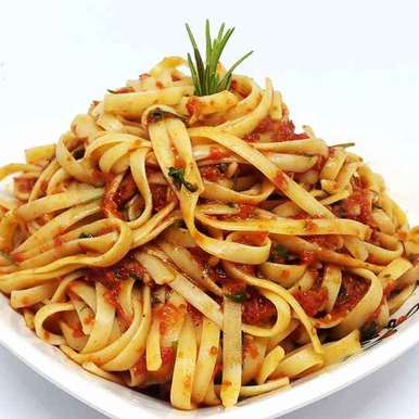 Photo of Tomato flavor Fettuccine Pasta by Shaheda T. A. at BetterButter