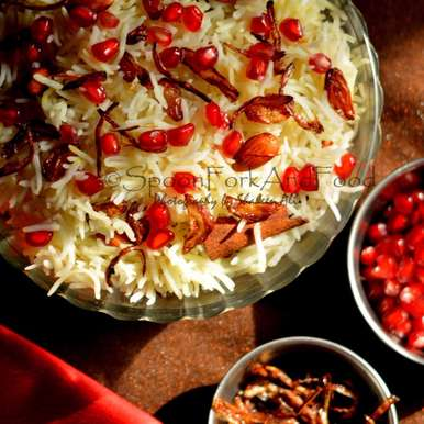 Photo of Pomegranate and dry fruit Pilaf by Shaheen Ali at BetterButter