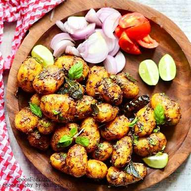 Photo of Spicy Baby Potatoes by Shaheen Ali at BetterButter