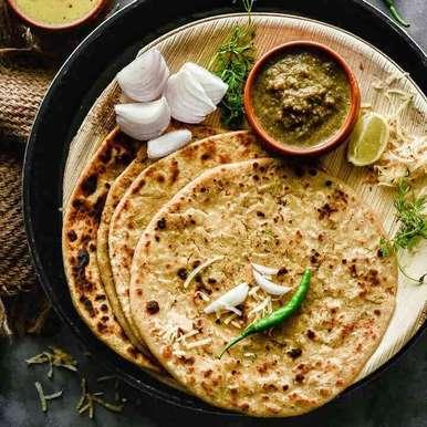 Photo of Kachche Papite Ka Paratha / Raw Papaya Stuffed Indian Flat Bread by Shaheen Ali at BetterButter