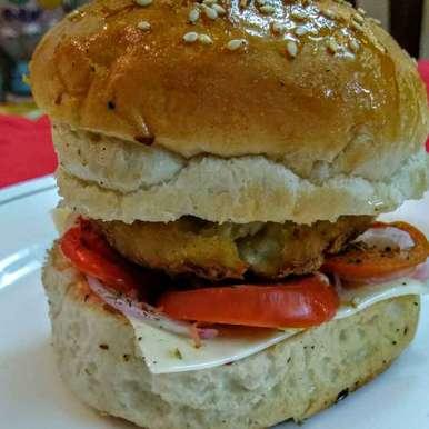 Photo of Cheese veg burger by Shakuntla Tulshyan at BetterButter