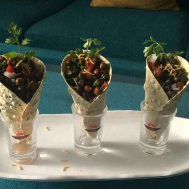 Photo of Healthy papad cone chat by Shalini Agarwal at BetterButter