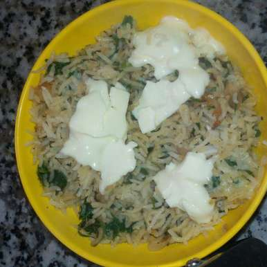 Photo of Spinach Cheesy Rice by shalini chawla at BetterButter