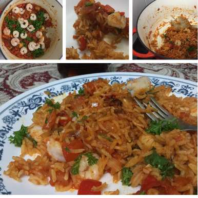 Photo of Paella - Spanish Rice with Chicken and Prawns by Shalini Digvijay at BetterButter