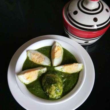 Palak dim recipe in Bengali,পালক ডিম, Shampa Das