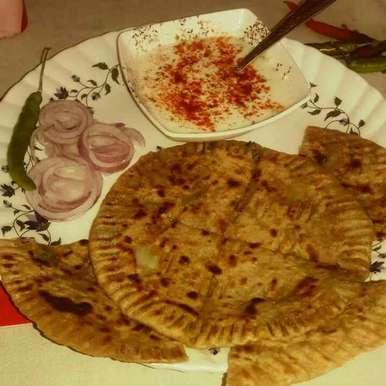 Shallow fry aaloo paratha recipe in Hindi,शैलो फ्राई आलू परांठा, shanta singh