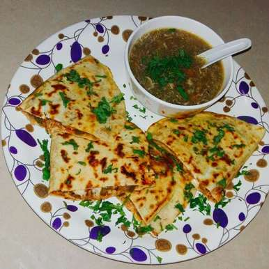 Photo of Chicken tortillas and manchow soup by sharana shan at BetterButter