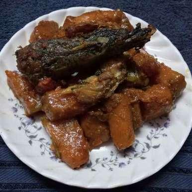 Macher matha diye kumro recipe in Bengali,মাছের মাথা দিয়ে কুমড়ো, Sharmila Dalal