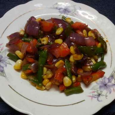 Mixed veg with corn recipe in Bengali,মিক্সড ভেজ উইথ কর্ণ, Sharmila Dalal