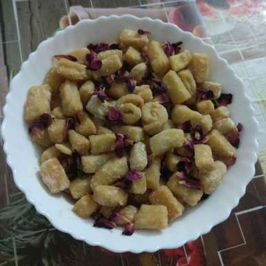 Mithe khurma recipe in Hindi,मिठे खुरमा, Shashi Pandya