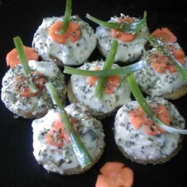 Curd Canapes, How to make Curd Canapes