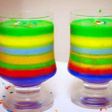 Photo of Vegan Rainbow Panna cotta by Shikha Gupta at BetterButter