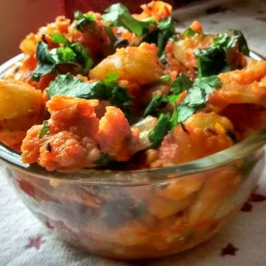 Photo of Aloo Gobhi Sukha(no onion no garlic) by Shoba Bharathraj at BetterButter