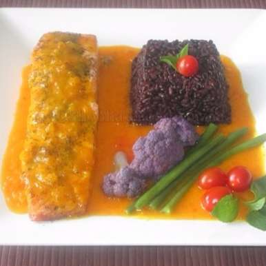 Photo of GRILLED SALMON WITH SAFFRON SAUCE by Shobha Keshwani at BetterButter