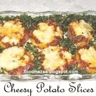 Photo of Cheesy Potato Slices (Pizza Style) by Shobha Keshwani at BetterButter
