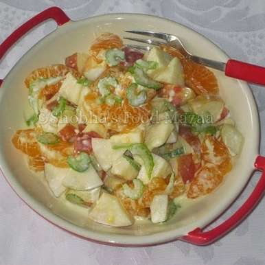 APPLE SALAD WITH CITRUS DRESSING, How to make APPLE SALAD WITH CITRUS DRESSING