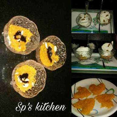 Carrot halwa with icecream recipe in Gujarati, ગાજર હલવા વિથ આઈસ્ક્રિમ, Shraddha Patel