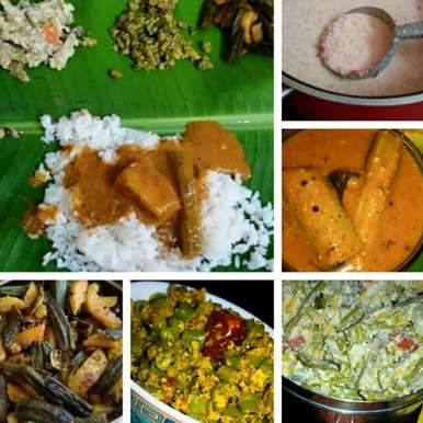 Photo of SADYA...Traditional meal on banana leaf......5 RECIPES by Shreela Sasidharan at BetterButter