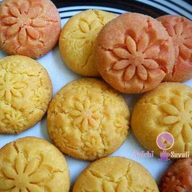 Eggless Custard Cookies