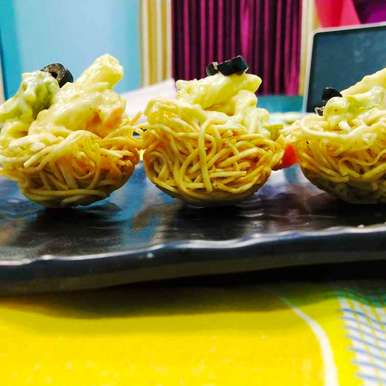 Photo of Alfredo noodle nest by VIDHI AGARWAL at BetterButter