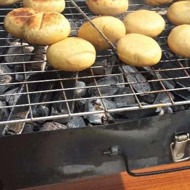 Barbequed Baati with Dal & Churma, How to make Barbequed Baati with Dal & Churma