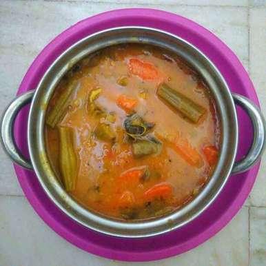 Photo of Mixed vegetables sambar by sneha gilla at BetterButter