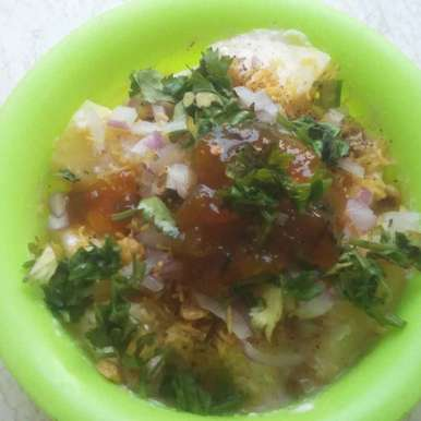 Photo of Dahi-aalu chat by Sneha Jha at BetterButter