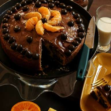Photo of DARK CHOCOLATE ORANGE MARBLE CAKE by Soma Pradhan at BetterButter