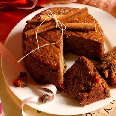Photo of EXPERIENCE A BLISSFUL SLICE OF HONEYED CHRISTMAS FRUIT AND NUT CAKE by Soma Pradhan at BetterButter