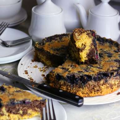 Photo of Blueberry Coffee Cake by Soma Pradhan at BetterButter